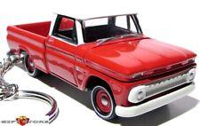VERY RARE KEY CHAIN RED~WHITE TOP 65/1965 CHEVY CHEVROLET PICKUP CUSTOM GM TRUCK