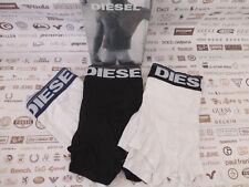Diesel Boxer UMBX-reaky Black & whitetrunk size XL 3pk Jersey Entièrement neuf dans sa boîte RRP £ 35