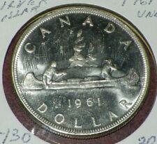 Canadian 1961 silver dollar coin un-circulated