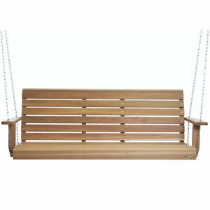 All Things Cedar PS60 Handcrafted Natural Western Red Cedar 5 Foot Porch Swing
