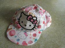 H&M Girls white Hello Kitty baseball cap sun hat, pink glitter bow - 1.5-4 years