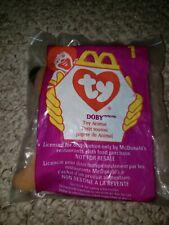 New McDonald's Ty Teenie Beanies Plush Happy Meal Toy Doby Doberman Dog #1