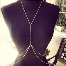 Celebrity Sexy Lady Gold Body Belly Waist Chain Bikini Beach Harness Necklaces