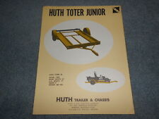 VINTAGE HUTH TRAILER & CHASSIS BROCHURE TOTER UTILITY MIDAS CYCLE BUGGIES JEEP