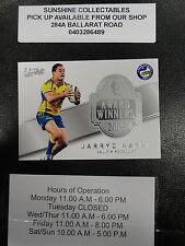 2011 NRL STRIKE AWARD WINNER CARD NO. AW1 JARRYD HAYNE DALLY M MEDALLIST