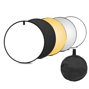 110cm Photography Light Reflector 5-in-1 Collapsible Multi-Disc for Studio