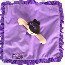 BABY STARTERS Lovey Security Blanket LITTLE PRINCESS Purple Plush Satin