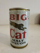 Vintage Big Cat Malt Liquor Beer Can Steel v
