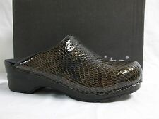 Sanita Size EU 36 US 5.5 M Sonia Espresso Patent Leather Clogs New Womens Shoes