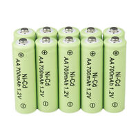 10x AA 700mAh 1.2V Rechargeable Battery Ni Cd Ni-Cd for Garden Solar Light Lamp