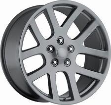 "(4) 24"" 24x10 SRT10 Style Fits 2002 - Up Dodge Ram 1500 Wheels Rims Gray Grey"