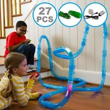 27 Pieces Racing Track Chariots Speed Pipe Racing Pod Toy Cars