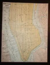 Antique 1893 Map of New York City (Southern Part)