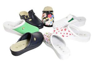 Scarpe ciabatte  donna pelle sanitarie Sanital Light leggera , flessibile