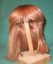 "Peluca de muñeca/cabello humano 11.5"" a 12"" Fresa Rubio, longitud del hombro"