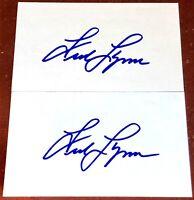 FRED LYNN Boston Red Sox HOFer baseball MLB auto autograph signed INDEX CARD LOT