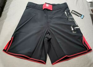 MMA Fight Shorts UFC Gym Red/Black lightweight Training Short Men's Sz 32 New