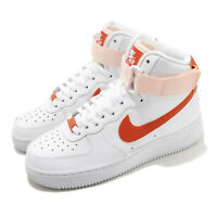 Nike Wmns Air Force 1 High White Orange Pearl Women Casual Shoes 334031-118