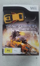 Transformers Dark of the Moon Stealth Force Edition Video Game with Car Wii New