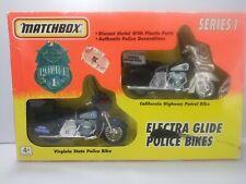H.D. Electra Glide Police bikes, series 2 Matchbox, Diecast 1994