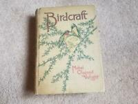 BIRDCRAFT BY MABEL OSGOOD WRIGHT 200 SONG, GAME AND WATER BIRDS 1899 MACMILLAN