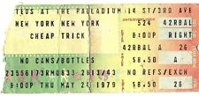 Cheap Trick Original 1979 Ticket Stub Palladium Rare Nyc Ticket