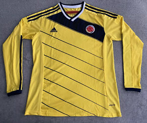ADIDAS COLOMBIA WORLD CUP 2014 HOME JERSEY LONG SLEEVE MENS LARGE
