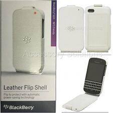 OEM Genuine Blackberry Q10 Leather Flip Shell Carrying Cover Case NEW White
