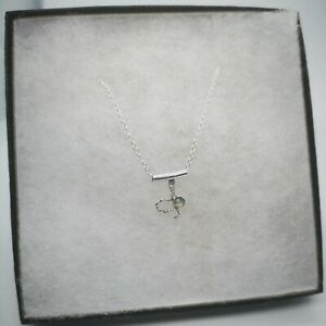 Petit Aquamarine Snake Necklace Sterling Silver New UK Chain