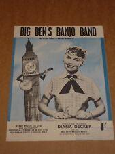 "DIANA Decker ""BIG BEN'S Banjo Band"" SPARTITO"