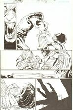 JSA: Classified #24 p.17 - Dr. Mid-Nite III vs Mircea - 2007 art by Alex Sanchez Comic Art