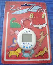 LAST 1 > Zoo Zone 8 Mini Pets In 1 Keychain Tamagotchi Electronic Handheld New