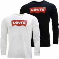 T shirt Levis T-shirt Levi's uomo manica Lunga maglietta girocollo Bianco Nero
