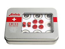 Andale Swiss Tin Box Bearing Skateboard Accessories, w/ spacers and axle nuts