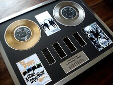 THE BEATLES A HARD DAY'S NIGHT GOLD PLATINUM DISC RECORD FILM CELL MONTAGE