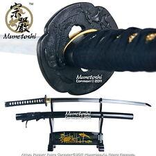 Handmade Munetoshi Mokko DH T10 Steel Katana Samurai Sword Black Factory Second