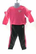 Body Glove Toddler Girls Active Pants Suit Neon Pink and Gray Winter Casual