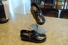Womens SANITA RYLAND Black White Stapled Clogs Size 37 6.5 7 GREAT Condition