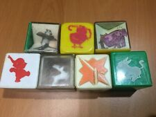 Vintage Clear Plastic Blocks Assorted/Some with Animals & Rattle Bead Inside 7