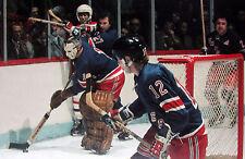 Nostalgia Hockey Print Photo Bruce Mcgreged Giacomin Goalie New York Ranger Eg15