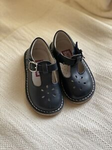 L'Amour Leather T-strap Mary Jane Shoe Navy Blue Size 6