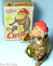Splendide Alpes TOYS Japan Clockwork Band Leader Chimpanzé Cymbales Singe Jouet C1950S