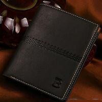 Mens Leather Bifold ID Card Holder Wallet Billfold Handbag Slim Clutch WALLET
