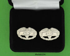 Combat Medic Badge Cuff Links - Combat Medical Badge Cufflinks