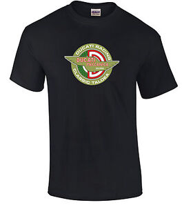 Retro Ducati Racing Style  Motorcycle Printed T Shirt in 6 Sizes