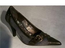 Escarpin cuir et jean marron 38 PRIX SPECIAL NOEL