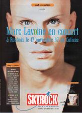 Publicité Advertising 1987  Radio SKYROCK  Marc Lavoine en concert à Roubaix
