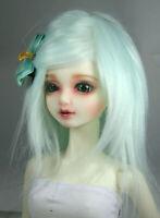 BJD Doll 1//4 7-8 Wig Short Afro Hair Fabric Fur Wig for Boy Girl Pink