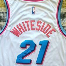 Hassan Whiteside Signed Autograph Miami Heat Miami Vice Jersey NBA PROOF