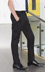 School Uniform Boys Trousers Charcoal Grey Flat Waist (Banner - Pemborke Style)